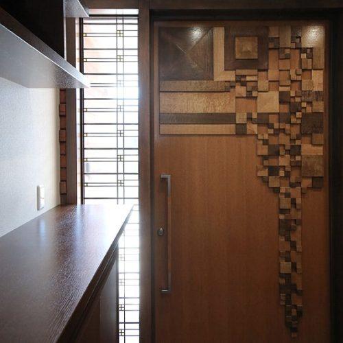 フランク・L・ライトの意匠の玄関