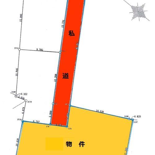 辰野町宮木分譲地区画図