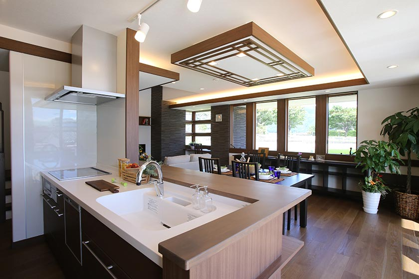 オーガニックハウス箕輪展示場のキッチン