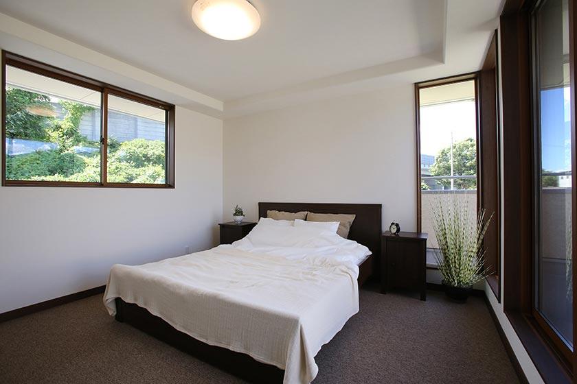 オーガニックハウス展示場の寝室