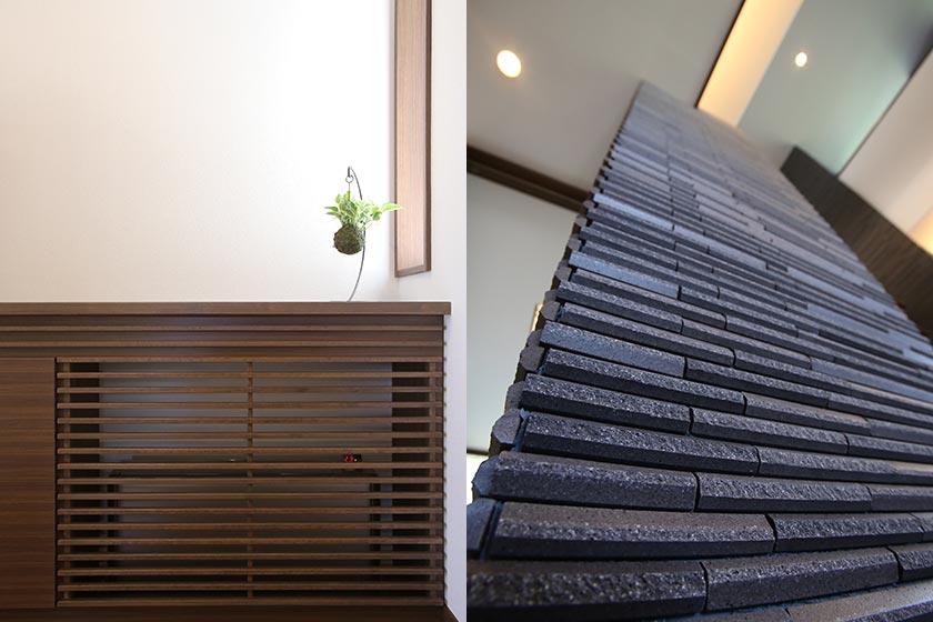 床下換気エアコンを収納した棚