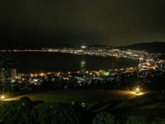 立石公園からの諏訪湖の夜景